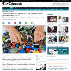 Traditional toys like jigsaws and Lego boost children's problem solving skills