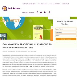 Evolving from Traditional Classrooms to Modern Learning Systems