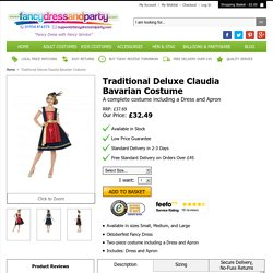 Traditional Deluxe Claudia Bavarian Costume - Fancy Dress and Party