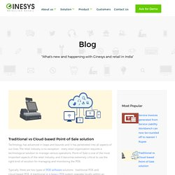 Traditional vs Cloud-based Point-of-Sale solution