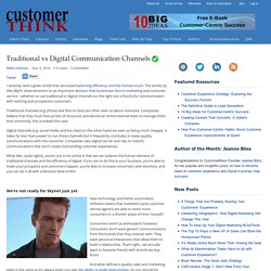 Traditional vs Digital Communication Channels