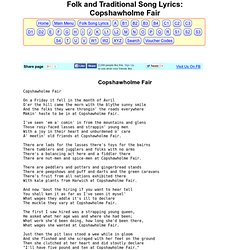 Folk & Traditional Song Lyrics - Copshawholme Fair