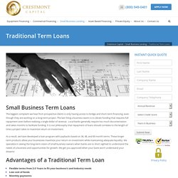 Traditional Term Loans - Crestmont Capital