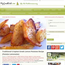 Traditional Crispiest Greek Lemon Potatoes Recipe (Patates Lemonates)