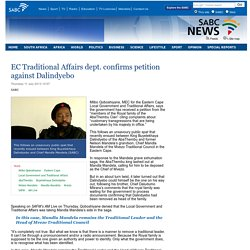 EC Traditional Affairs dept. confirms petition against Dalindyebo :Thursday 11 July 2013