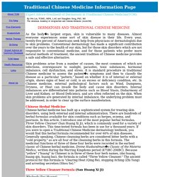 Traditional Chinese Medicine/TCM and Dermatosis