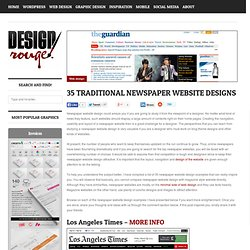 35 Traditional Newspaper Website Designs