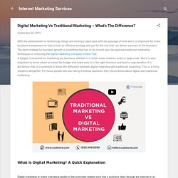 Digital Marketing Vs Traditional Marketing – What's The Difference?