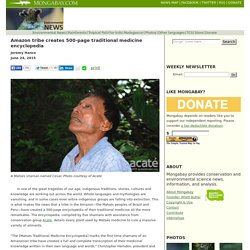 Amazon tribe creates 500-page traditional medicine encyclopedia