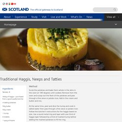 Traditional Haggis, Neeps and Tatties