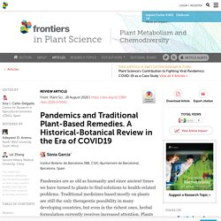 Pandemics and Traditional Plant-Based Remedies. A Historical-Botanical Review in the Era of COVID19
