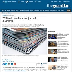 Will traditional science journals disappear?