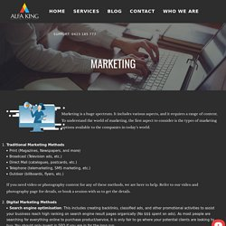 Digital and Traditional Marketing Melbourne, Australia