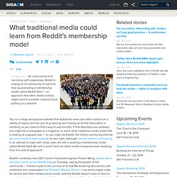 What traditional media could learn from Reddit's membership model