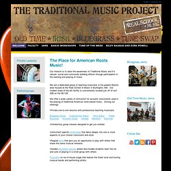 Traditional Music Project Home