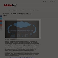 Traditional POS V/s Smart Cloud Point of Sales -