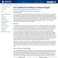 Non-Traditional Teaching & Learning Strategies - Faculty Excellence at MSU