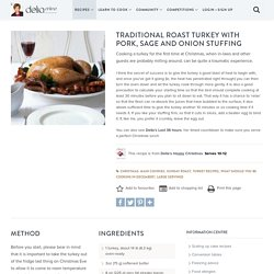 Traditional Roast Turkey with Pork, Sage and Onion Stuffing