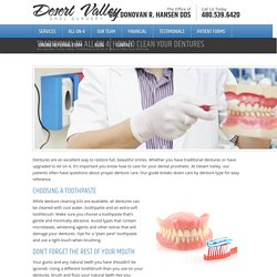 Traditional to All On 4: How to Clean Your Dentures - Desert Valley Oral SurgeryDesert Valley Oral Surgery
