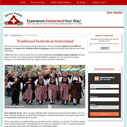 Traditional Festivals in Switzerland