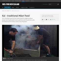 Kai - traditional Māori food - Tourism New Zealand Media