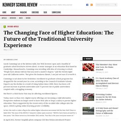 The Changing Face of Higher Education: The Future of the Traditional University Experience