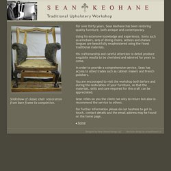 Sean Keohane - Traditional Upholstery Workshop in Bristol