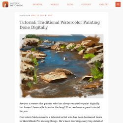 Traditional watercolor painting done digitally: Step-by-step