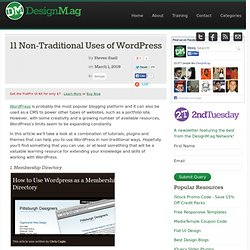 11 Non-Traditional Uses of WordPress
