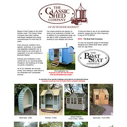 The Classic Shed Company - traditionally styled custom garden buildings