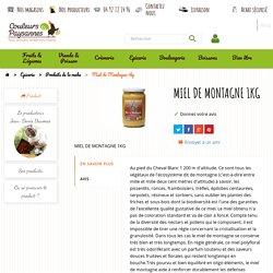 Miel de Montagne 1kg - Elevage local. Savoir-faire traditionnel, à prix producteurs - Livraison Provence