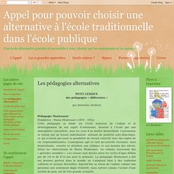 Les pédagogies alternatives