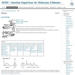 ISMC : Institut Sup rieur de M decine Chinoise, Medecine Chinoise Traditionnelle et Moderne, Ecole & Formation en Medecine Chinoise Traditionnelle et Moderne: Cours, Techniques M dicales. - Pouls