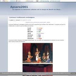 Costumes traditionnels cambodgiens - Apsara2001