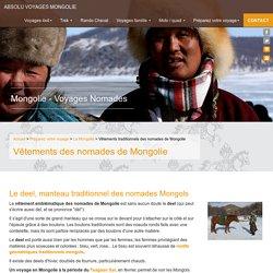Mongolie - Vêtements traditionnels des nomades - Par Absolu Voyages Mongolie, agence de voyage francophone