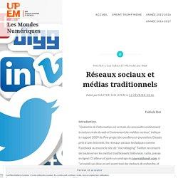 Réseaux sociaux et médias traditionnels – Les Mondes Numériques