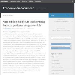 Auto-édition et éditeurs traditionnels : impacts, pratiques et opportunités – Économie du document