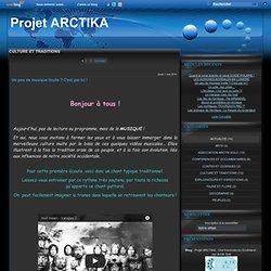 CULTURE ET TRADITIONS - Un peu de musique… - Le mariage chez les… - Alcool et… - Rites funéraires… - Le sport en Arctique - Projet ARCTIKA - Une traversée du Groënland - par Arctik Solo