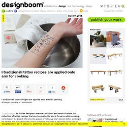 i tradizionali tattoo recipes are applied onto arm for cooking