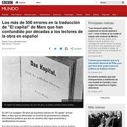 """Los más de 500 errores en la traducción de """"El capital"""" de Marx que han confundido por décadas a los lectores de la obra en español"""