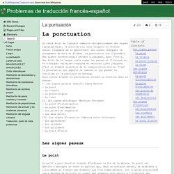 Problemas de traducción francés-español - La puntuación