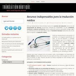 Recursos para la traducción médica