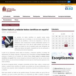 Cómo traducir y redactar textos científicos en español
