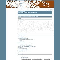 Traducteurs, agences et outils de TAO