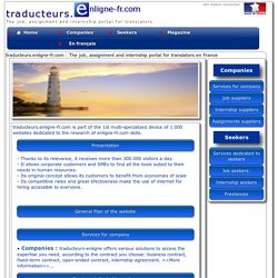 traducteurs.enligne-fr.com : The job, assignment and internship portal for translators France