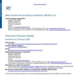 W3C WCAG 2.0 FR