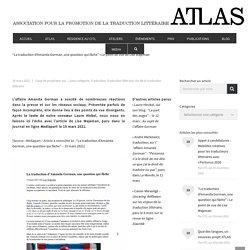 Le point de vue de Lise Wajeman – ATLAS (Association pour la promotion de la traduction littéraire)