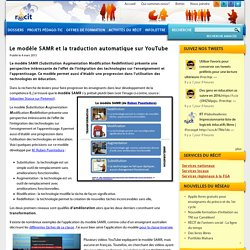 Le modèle SAMR et la traduction automatique sur YouTube