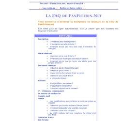 Traduction de la FAQ de FanFiction.Net