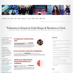 Traduction en français du Code éthique de Barcelona en Comú